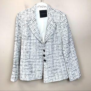 Classiques entier White black tweed blazer L